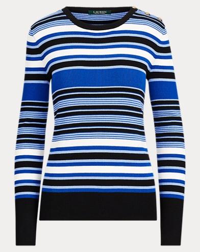 Striped Cotton-Blend Sweater