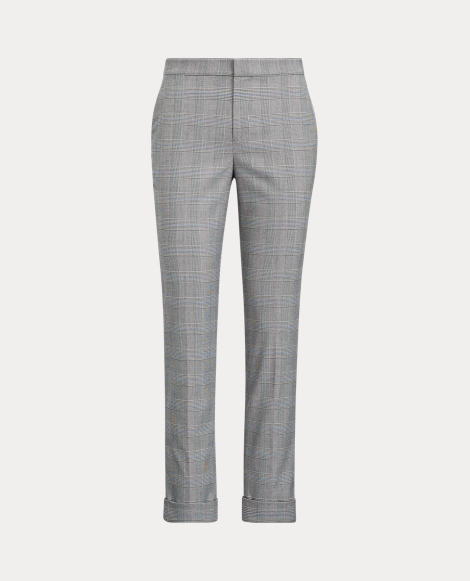 Glen Plaid Stretch Trouser