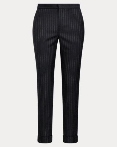 Pinstripe Wool-Blend Pant