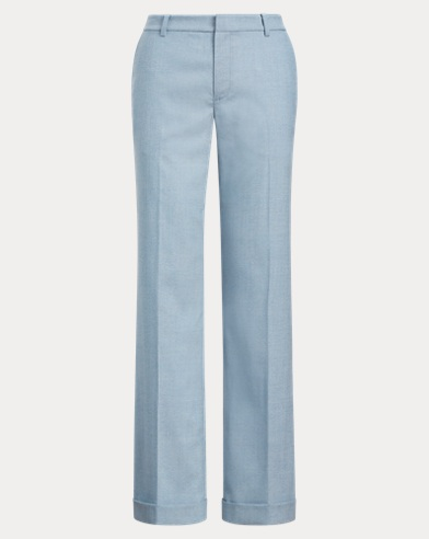 Wool-Blend Wide-Leg Trouser