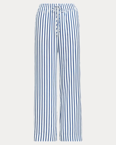 Striped Drawcord Twill Trouser
