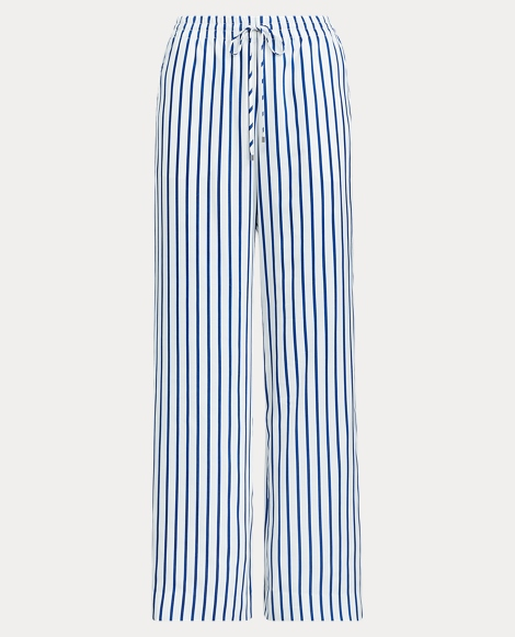 Striped Drawcord Twill Pant