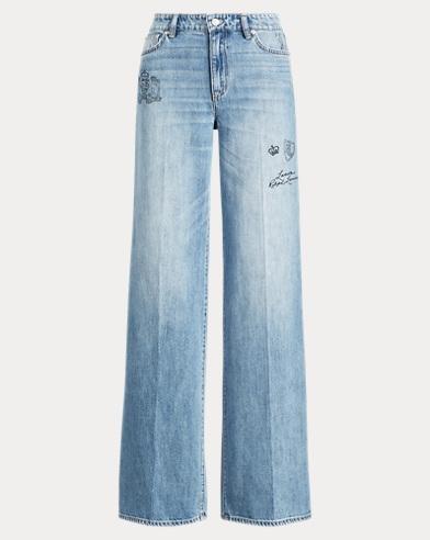 Print Wide-Leg Jean