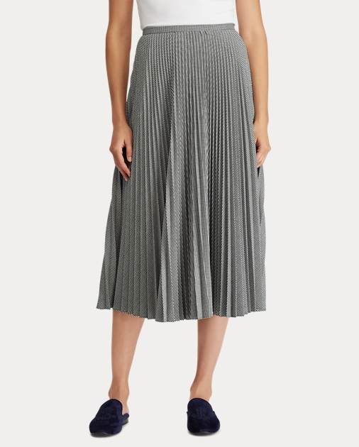 eebae0d59 Lauren Pleated Twill A-Line Skirt 3