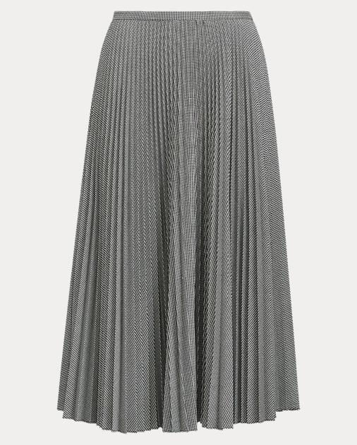 36bbd3b32 Lauren Pleated Twill A-Line Skirt 1