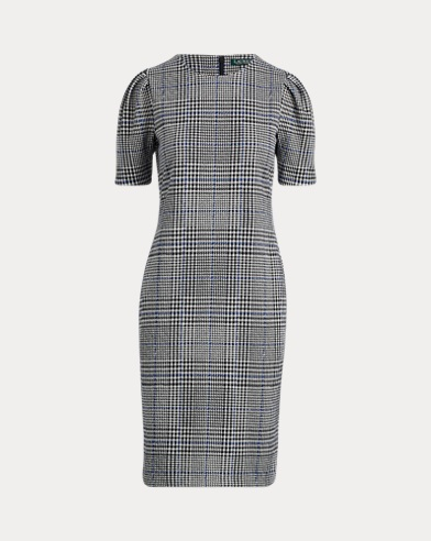 Glen Plaid Jacquard-Knit Dress