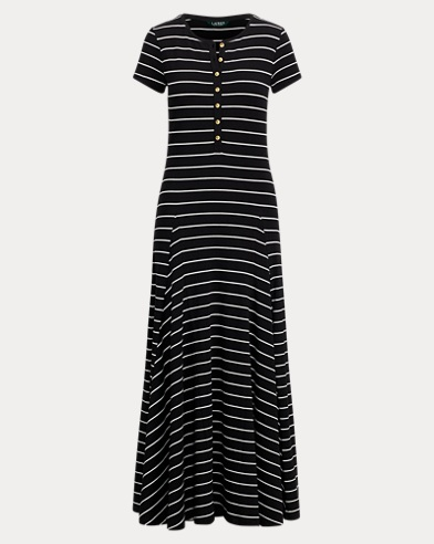 Striped Jersey Maxidress