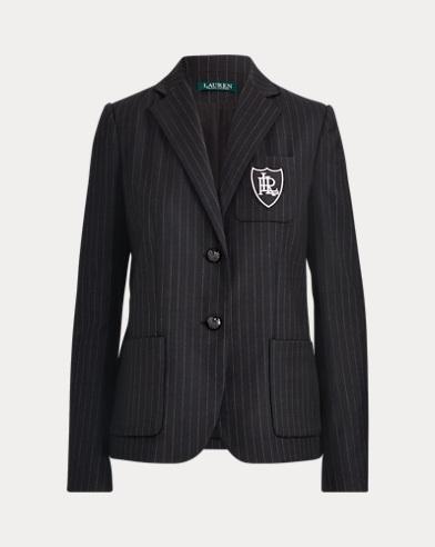 Pinstripe Wool-Blend Blazer