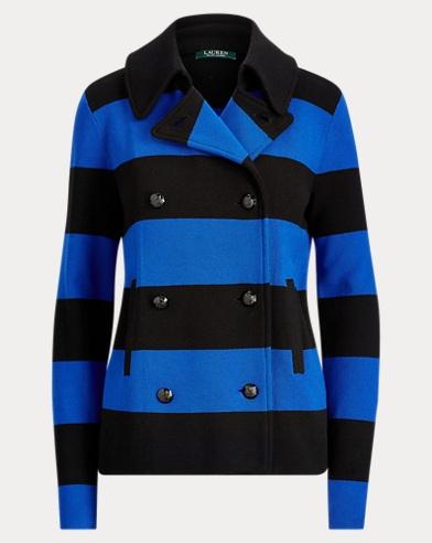 Striped Cotton-Blend Jacket