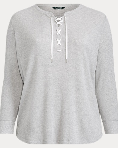 Lace-Up Cotton Top