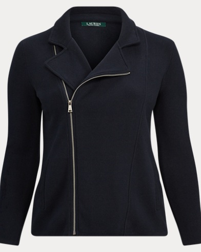 Cotton-Blend Moto Jacket