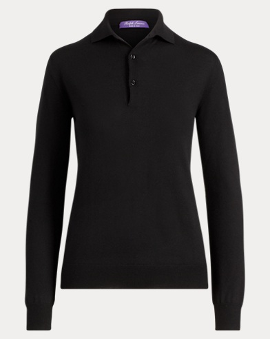 Cashmere Long-Sleeve Polo