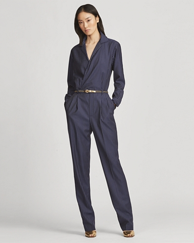 Judson Striped Wool Jumpsuit