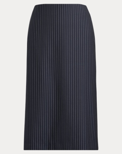 Cindy Striped Wool Skirt