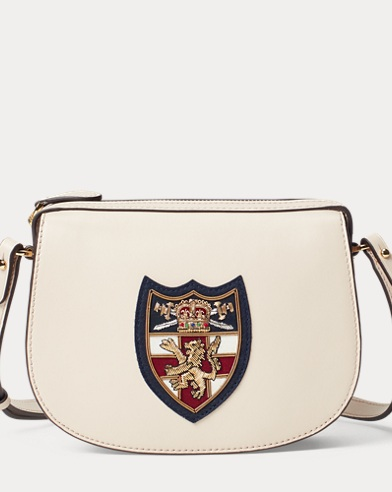a3740486f9 Bullion-Patch Leather Mini Bag. Polo Ralph Lauren