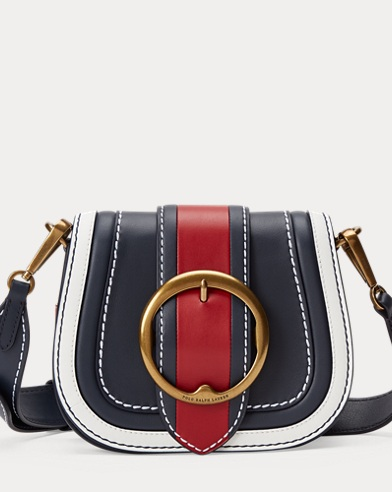 Color-Block Leather Lennox Bag