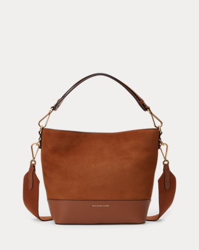 Nubuck Leather Small Hobo Bag