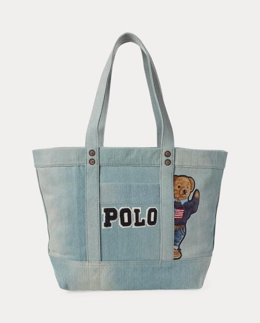 Polo Canvas Bear Polo Canvas Tote Tote Bear Bag n0kwOP8