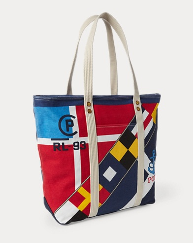 1148d7faadeb Sailboat Cotton Canvas Tote. Polo Ralph Lauren