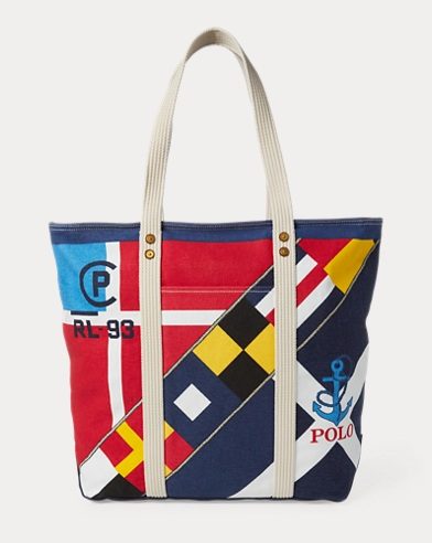 Sailboat Cotton Canvas Tote. Polo Ralph Lauren ea355524a31ab
