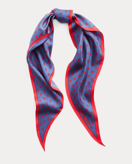 8adff60754 Art Deco Dot Silk Scarf