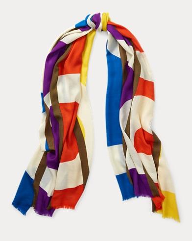 Polo Frayed Wool Scarf