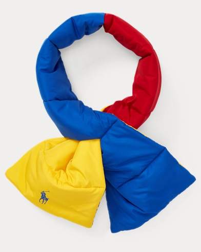 Reversible Polo Puffer Scarf