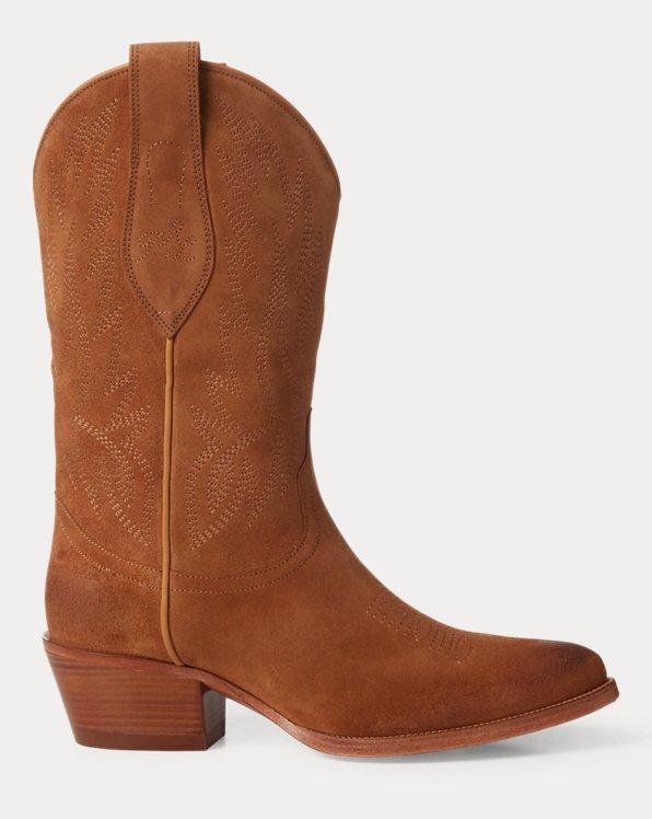 Bottes de cowboy Dayna en daim