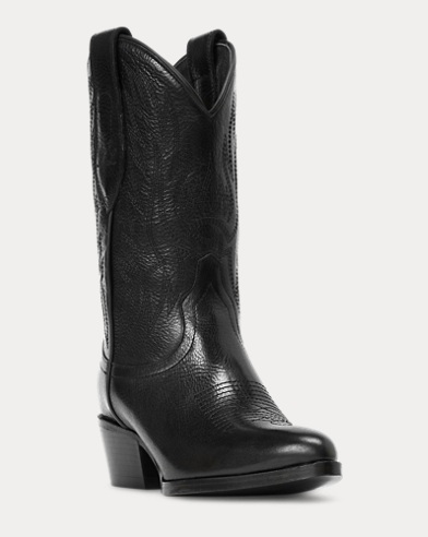 Dayna Leather Cowboy Boot