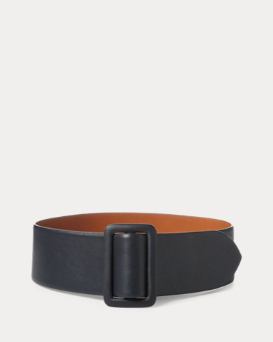Trench-Buckle Calfskin Belt