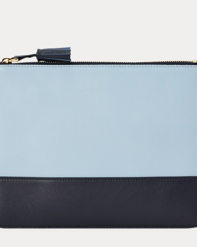Color-Blocked Calfskin Pouch