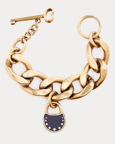 Padlock Curb-Chain Bracelet