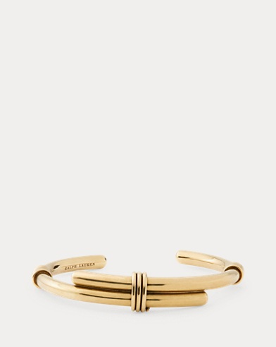 Gold-Plated Whip Brass Cuff