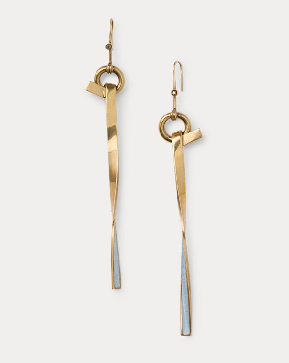 Gold-Plated Tie-Twist Earrings