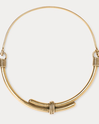 Whip Brass Collar Necklace