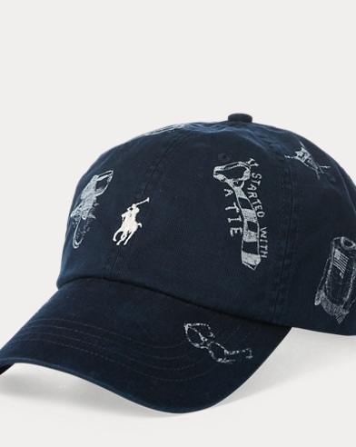 Preppy-Print Baseball Cap