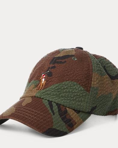 Cappellino camouflage in seersucker