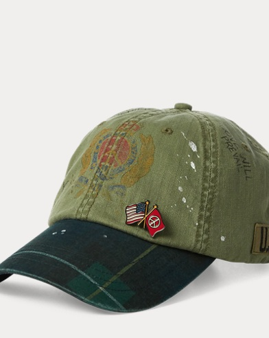 9ddfd9cad65 Paint-Splatter Crested Cap. Polo Ralph Lauren