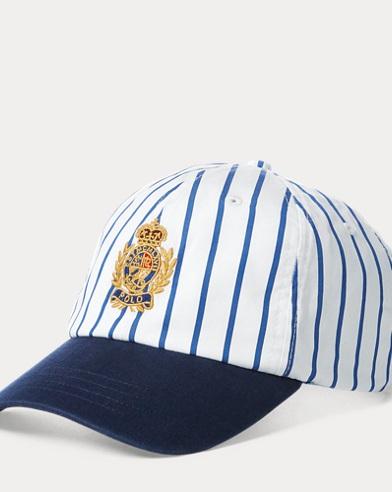 Cappellino gessato con stemma