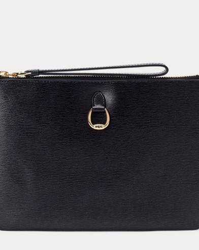 Saffiano Leather Wristlet