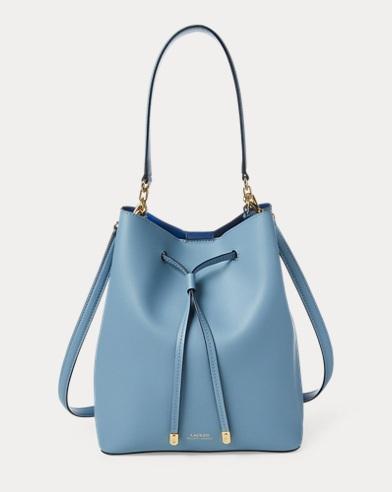 69065ea3c9 Leather Debby Drawstring Bag