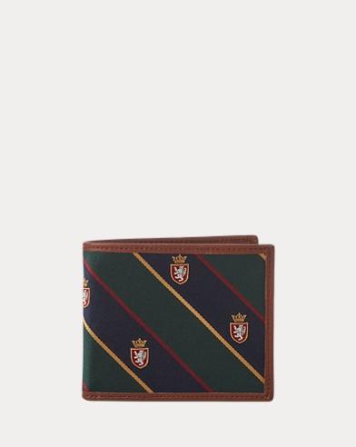 Brieftasche mit Ripsbandmuster
