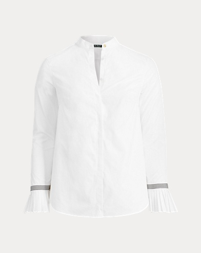 Pleated-Cuff Cotton Shirt