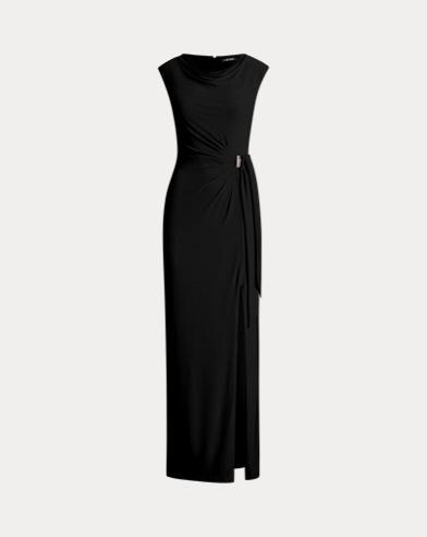 Jersey-Abendkleid mit Brosche