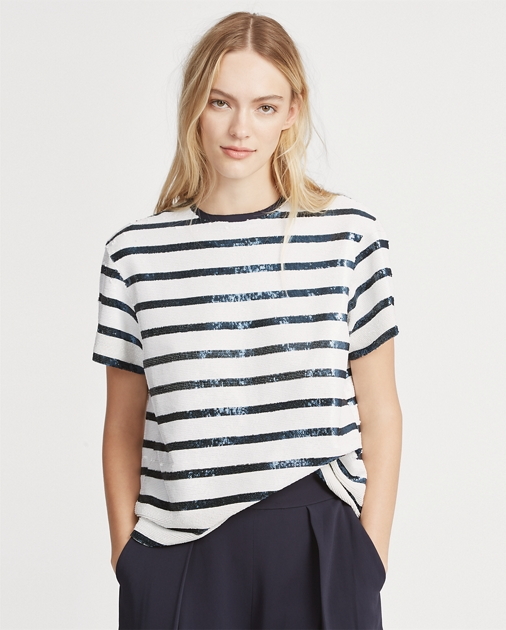 370cf268c8 Sequined Striped Shirt