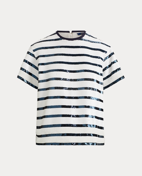 Sequined Striped Shirt