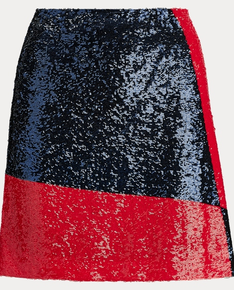 Sequined Mesh Skirt
