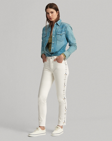 Callen Studded High-Rise Slim