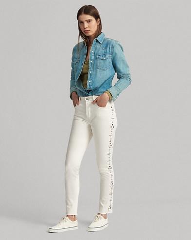 High-Rise Slim-Fit Jeans Callen