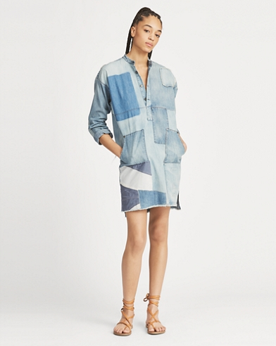 Patchwork Tunic Denim Dress